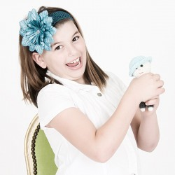 Haarband Blaue Blume