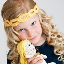 Haarband Gelb Oval