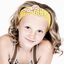 Haarband Gelb mit Schleife